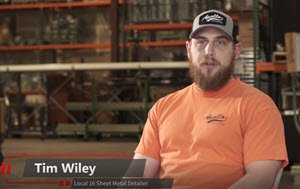 Tim Wiley – Local 16 Sheet Metal Detailer