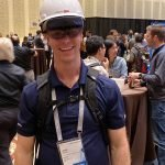 VDC at Autodesk university smiling with the VisuaLive HoloLens 2 AR system
