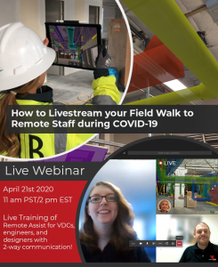Webinar Flyer - How to Livestream you Field Walk to Remote Staff during COVID-19