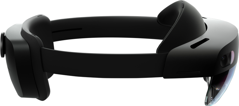 Microsoft HoloLens 2 from the side