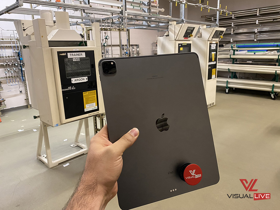 MobiLive AR on iPad Pro with LiDAR scanning